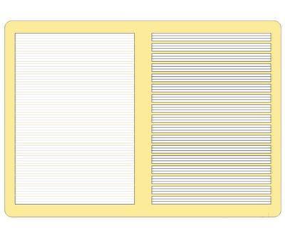 Sešit Herlitz  A5, 80g/m2 - vodící pomocné linky 2G,16 listů - 3