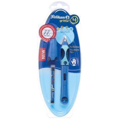Pelikan Bombičkové pero Griffix 4 pro praváky - světle/tmavě modré - 3