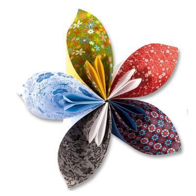 Papíry na origami 15x15 cm - 50 listů motiv Ornamental - 3