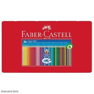 Faber-Castell Pastelky Colour Grip 2001 - 36ks v plechové krabičce - 3