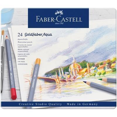 Faber-Castell Pastelky Goldfaber Aqua - 24 ks v kovové kazetě - 4