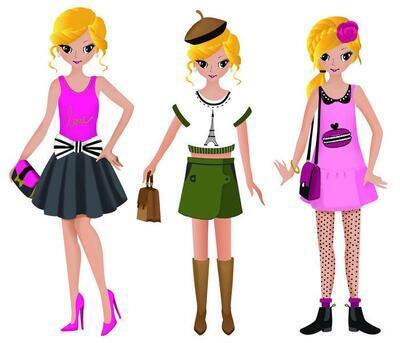 StampoFashion Převlékací panenky - Holky z města - 4