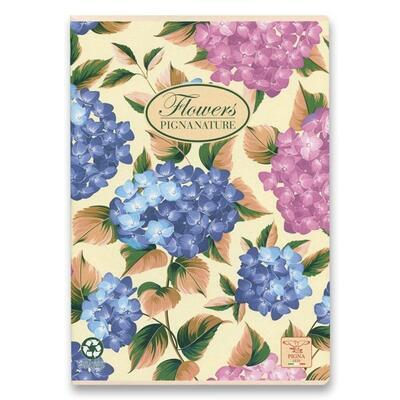 Školní sešit PIGNA A4, čistý, 40 listů - Nature Flowers  - 4