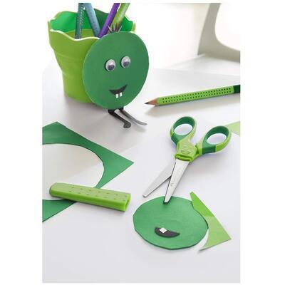 Faber-Castell Grip Školní nůžky s krytem - zelené - 4