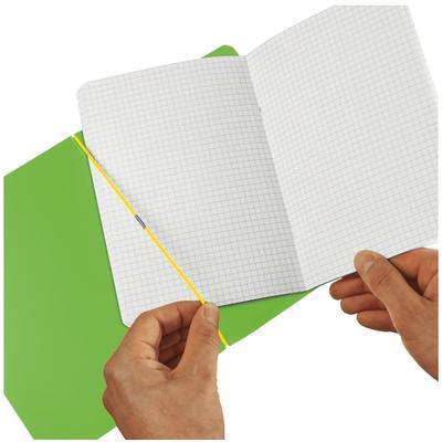 Sešit flex A5/40 listů, čtverečkovaný - zelený - 4