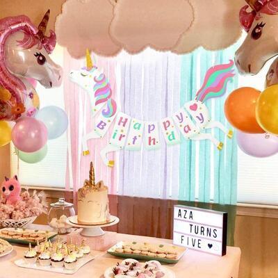Girlanda STYLEX 14262, Jednorožec Happy Birthday, dinosaurus Bunting / 2,5m - 4