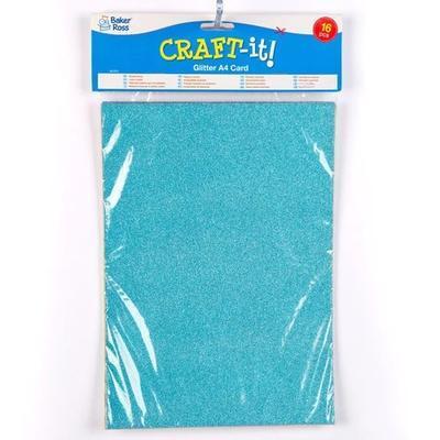 Papír třpytivý A4, 250 g/m2, 16 ks - 8 barev - 4