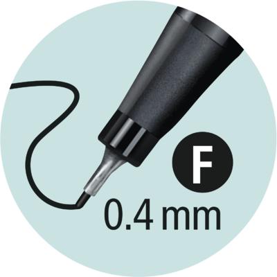 Stabilo point 88/45 - hnědá - 0,4 mm - 4