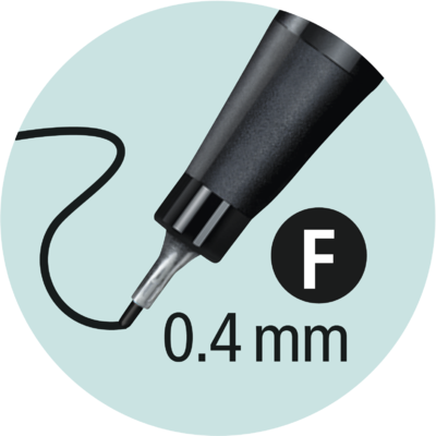 Stabilo Point 88/46 - černá - 0,4 mm  - 4