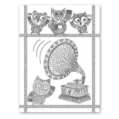 Omalovánky pro dospělé - Moudré sovy - 4