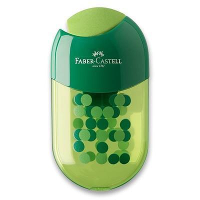 Faber-Castell ořezávátko dvojité s pryží a zásobníkem mix barev - 4