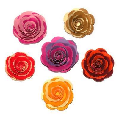 Výřez  Stáčené květiny - chamois/světle hnědé - 4