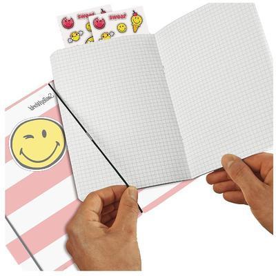 Sešit flex A5/40 listů, čtverečkovaný - Smajlíci Girly - 4