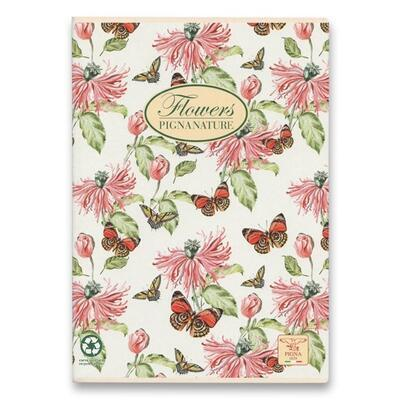 Školní sešit PIGNA A4, čistý, 40 listů - Nature Flowers  - 5