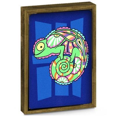 SAND ART - pískování obrázků - 2 obrázky k vypískování + 2 rámečky chameleon a ryby - 5