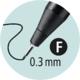 Stabilo SENSOR  Liner inkoustový F, barva černá - 5/7