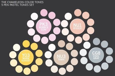 Chameleon Color Tones - 5 ks, Pastel Tones      - 5