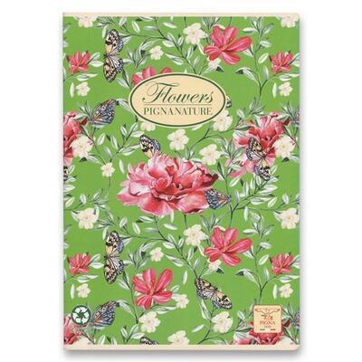 Školní sešit PIGNA A4, čistý, 40 listů - Nature Flowers  - 6