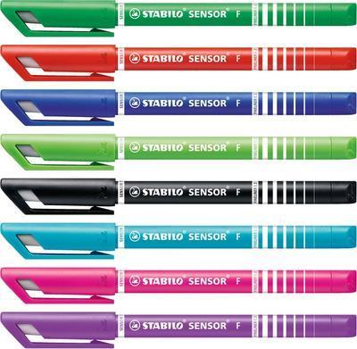Stabilo SENSOR  Liner inkoustový F, barva tmavě zelená - 6