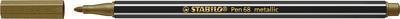 Stabilo Pen Metallic 68/810 zlatá - 6