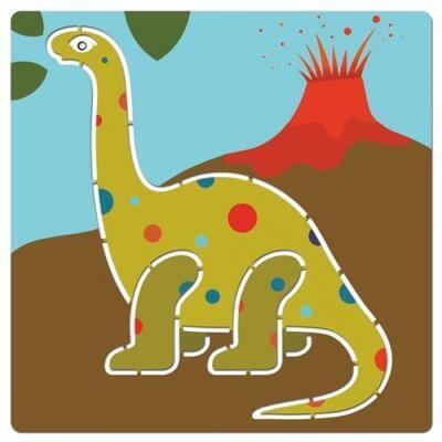 Djeco Šablony Dinosauři - 5ks - 6