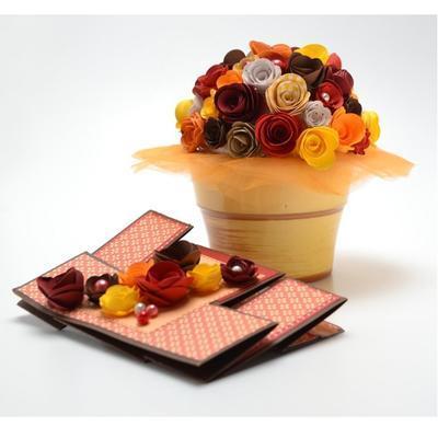 Výřez  Stáčené květiny - žlutá/vanilková - 6