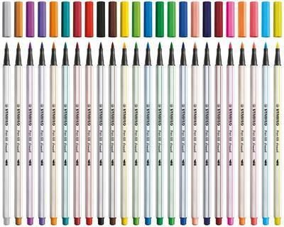 Stabilo Pen 68 brush - vláknový fix - sada 12 barev 568/12-21 - 6