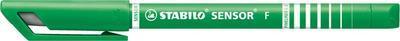 Stabilo SENSOR  Liner inkoustový F, barva tmavě zelená - 7