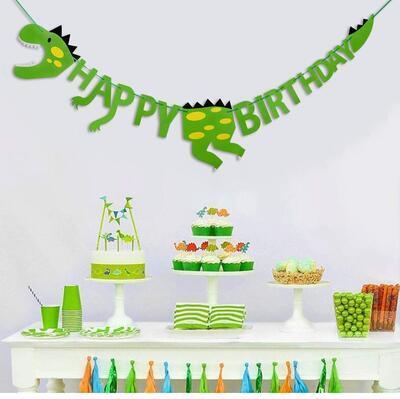 Girlanda STYLEX 14262, Jednorožec Happy Birthday, dinosaurus Bunting / 2,5m - 7