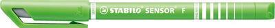 Stabilo SENSOR  Liner inkoustový F, barva světle zelená - 7