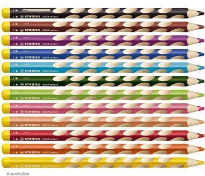 Stabilo EASYcolors 331/12 Pastelky pro leváky  Sada  12 ks + ořezávátko - 7